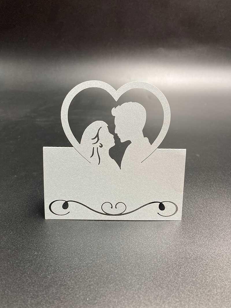 Sølv bordkort Par
