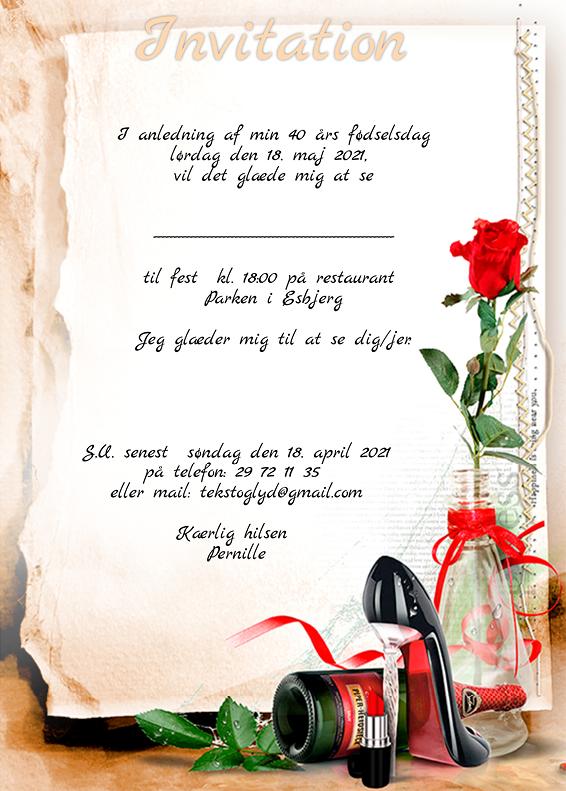 Invitation til julefrokost tekst